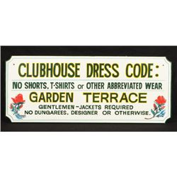 Saratoga Race Track Clubhouse Dress Code Wood Sign