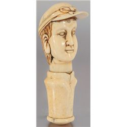 Carved Bone Ivory Jockey Cork Screw
