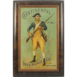 Continental Insurance Co. Minute Man Tin Sign
