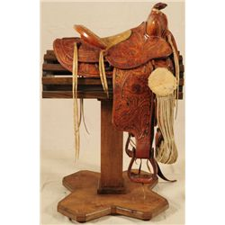 Texas Ranger Saddle D. Heye San Antonio Texas