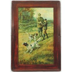 Dupont Gun Powders Self Framed Tin Sign