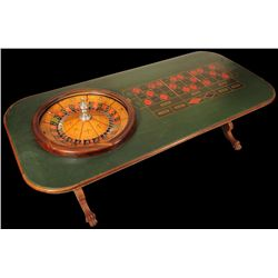Mason Roulette Wheel & Claw Foot Table