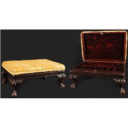 Texas Gambler's Hideaway Casino Bank Foot Stool