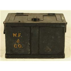 Strong Box With Stencilled W F & Co.