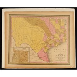 1848 Map of Texas By C.S. Williams