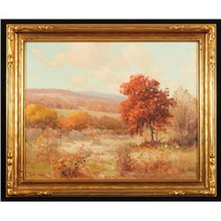 "Robert Wood Oil On Canvas ""Autumn Hues"""
