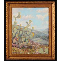 "Robert Harrison ""Cactus"" Oil Painting"