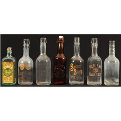 7 Whiskey Bottles From The Buckhorn Saloon