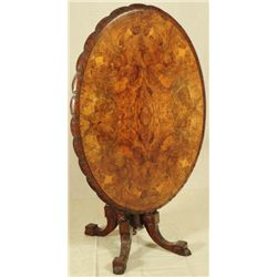 Ornate Inlaid Tilt Top Table