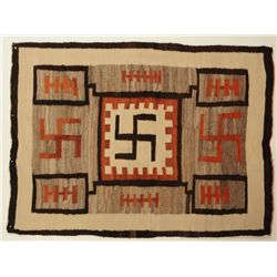 Whirling Logs Navajo Rug