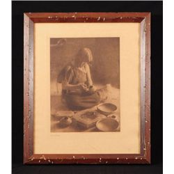 "E. S. Curtis ""The Potter"" Photogravure"