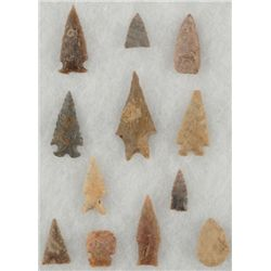 Collection of 12 Arrowheads