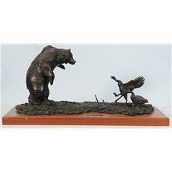 "Frank Hagel ""The Nesters"" Grizzly Bear Bronze"
