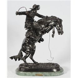 "Frederic Remington ""The Bronc Buster"" Bronze"