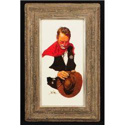 """Jim Sharpe """"The Ranger"""" Oil Painting"""