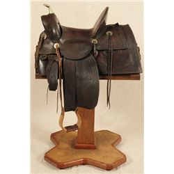 R.T. Frazier Marked Saddle Displayed at Buckhorn