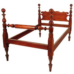 Tiger Oak Cannon Ball Bed