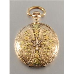 14K Gold Two Tone Illinois Pocket Watch
