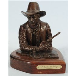 """I Came To Play"" Bronze Statue Signed Covelle"