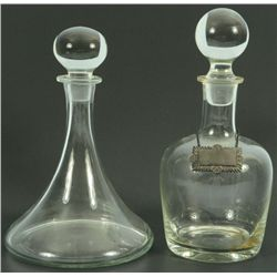 Tiffany Signed Whiskey & Cognac Decanters