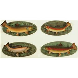4 Fish Mounts Trout & Grayling