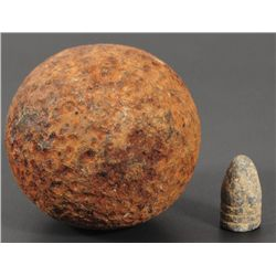 Civil War Cannon Ball & Bullet Relics