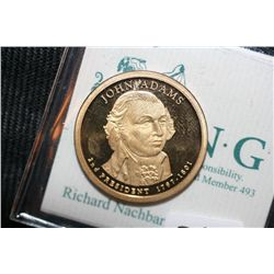 2007-S John Adams $1 Presidential Coin