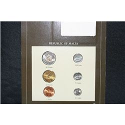 Republic of Malta Coin Set and Stamp