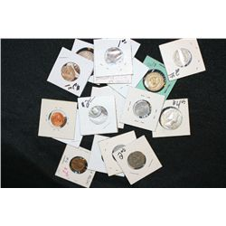 20 World Coins & Tokens various dates & conditions