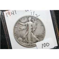 1941 Silver Walking Liberty Quarter