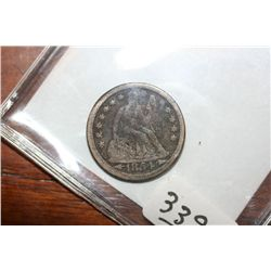 1853 Seated Liberty Dime