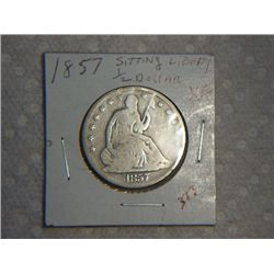 1857 SITTING LIBERTY 1/2 DOLLAR