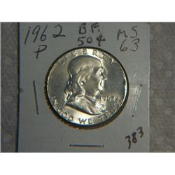 1962-P FRANKLIN 1/2 DOLLAR