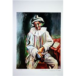 Picasso Limited Edition - Pierrot Sitting - from Collection Domaine Picasso