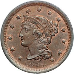 1854 N-18 R3 PCGS graded MS65 Brown