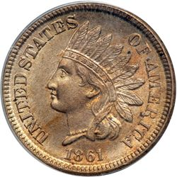 1861 Indian Head 1C PCGS MS64