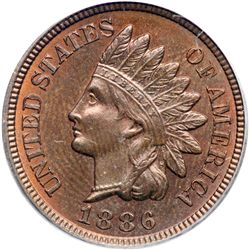 1886 Indian Head 1C. Variety 2