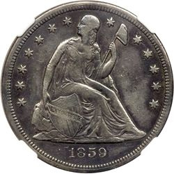 1859-S Liberty Seated $1