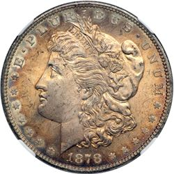 1878 Morgan $1. 7 Tail Feathers, Rev of 1879 NGC MS64