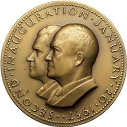 1957 Dwight D. Eisenhower Official Second Inauguration Bronze Medal