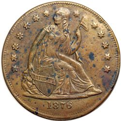 1876 Advertising Token. EF