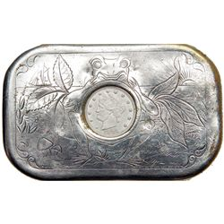 1883 FrogTobacco Tin with inset 1883 Liberty Nickel