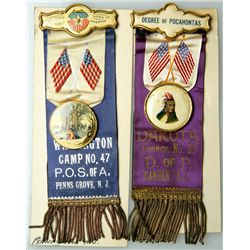 A pair of Patriotic Orders with Ribbons