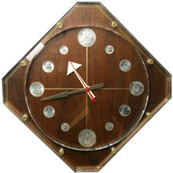 Large Silver Coin Clock
