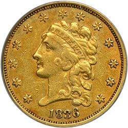 1836 $2.50 Classic Head. Block 8