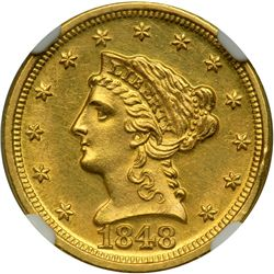 1848-D $2.50 Liberty
