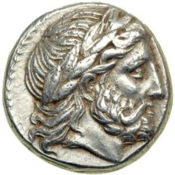 Kingdom of Macedon. Philip II, 359-336 BC. AR Tetradrachm (14.29 g) minted posthumously at Amphipoli