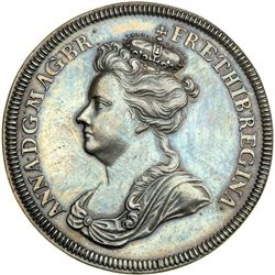 Great Britain. Accession Medal, 1702. NGC AU58