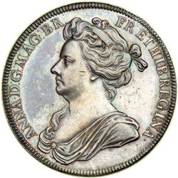 Great Britain. Coronation Medal, 1702. NGC AU58