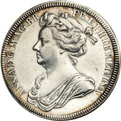 Great Britain. Coronation Medal, 1702. NGC AU